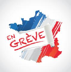 la france et les français en grève