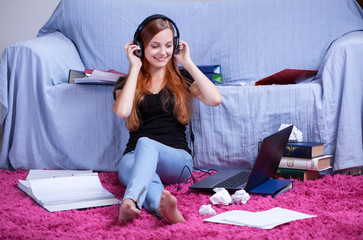 Listening to music instead of learning