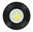 Vintage Vinyl Record with Yellow Adapter - 68890192