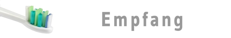 zaps19 - ZahnArztPraxisSchild 19 - Empfang - 6zu1 - g1119