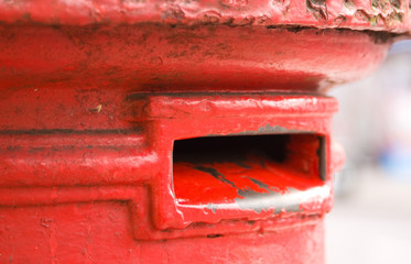 Iconic red letter box