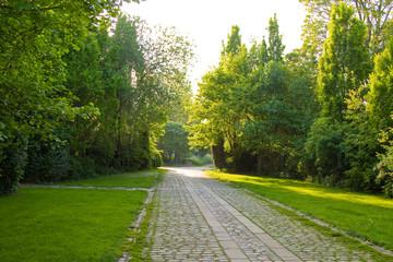 Entrance to graveyard, beautiful scenery.