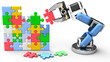 Robotic puzzle problem solution