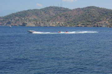 Watersports around the bays of fethiye in turkey