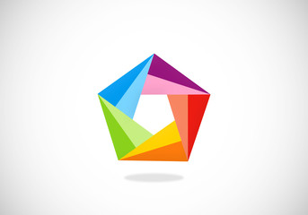 triangle abstract geometry vector logo