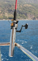 A fishing trip in Turkey, trolling for the fish, oludeniz 2014