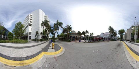 Lincoln Road spherical panorama for virtual tours