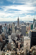 Obrazy na płótnie, fototapety, zdjęcia, fotoobrazy drukowane : New York City Manhattan midtown buildings skyline view