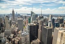 壁紙(ウォールミューラル) - New York City Manhattan midtown buildings skyline view