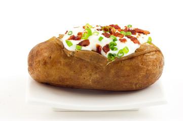 Baked russet potato