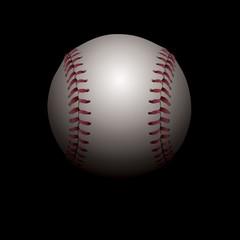 Shadowed Baseball Illustration