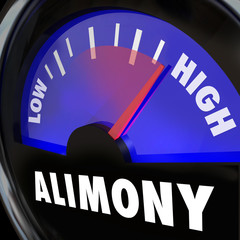 Alimony Gauge Level Spousal Support Financial Payment Amount