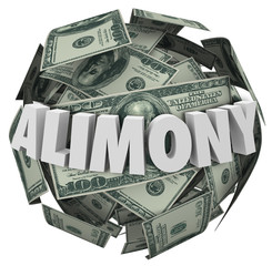 Alimony Word 3d Money Ball Financial Obligation Ex Spousal Suppo