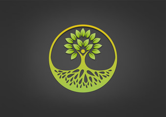 logo root healthy life, abstract body mental  health