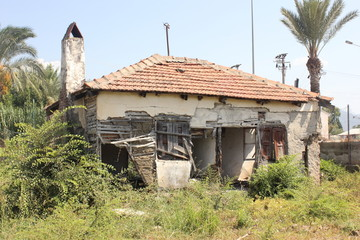 An old dericlict building in Calis, Turkey