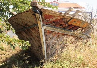 Wreckage of an old boat