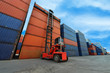 Crane lifter handling container box loading - 68893762