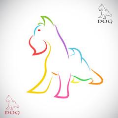 Vector image of an dog (Irish terrier)