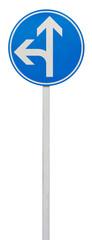 directions obligatoires : tout droit ou à gauche