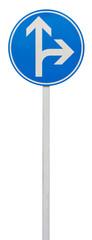 directions obligatoires : tout droit ou à droite