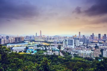 Shenzhen, China Downtown Cityscape