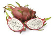 Dragon fruit isolated on the white background