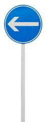 direction obligatoire à la prochaine intersection : à gauche