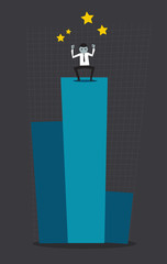 Profit leader drawing concept. Vector. Illustration.