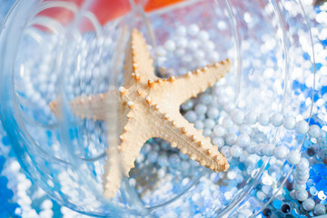 Decoration with starfishes