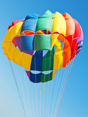 canopy of parachute for parakiting
