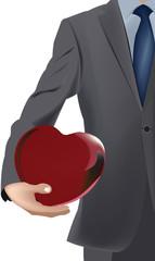 consegna un cuore