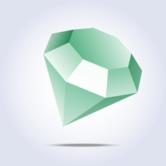 Emerald icon on gray background