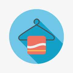 TOWEL HANGER flat icon with long shadow