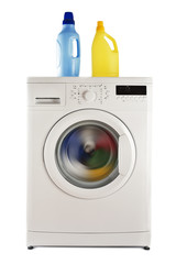 Washing machine and detergents