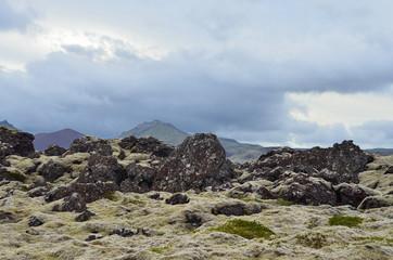 Лавовое поле,  Исландия