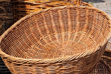 Traditional wicker basket © Arena Photo UK