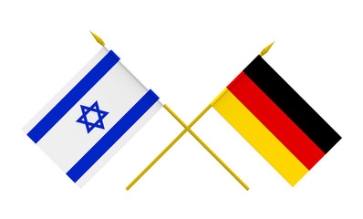Flags, Germany and Israel