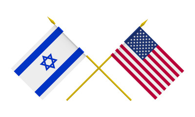 Flags, USA and Israel