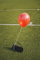 Red balloon.Red balloon.