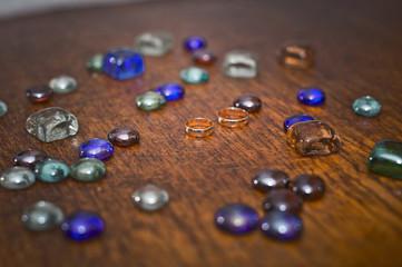 Multi-colored stones.