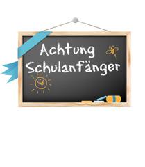 Schild Schulanfänger Tafel © Matthias Buehner