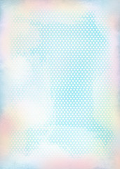 Retro background in light blue in shabby chic style