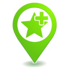 ajouter aux favoris sur symbole localisation vert