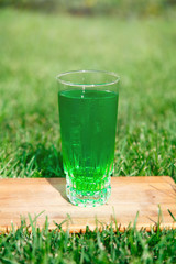 Green drink in a glass