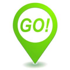 go sur symbole localisation vert