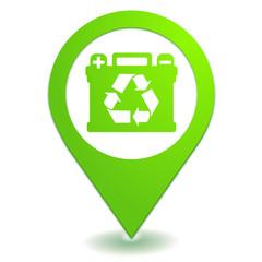 recyclage des batteries sur symbole localisation vert