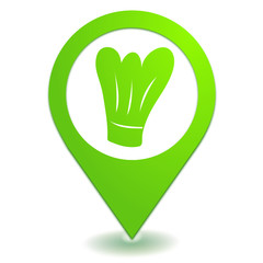 restaurant sur symbole localisation vert