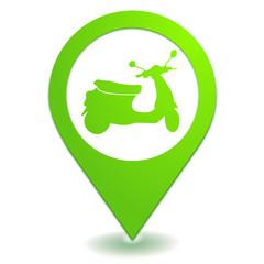 scooter sur symbole localisation vert