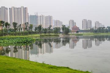 the scenery in chengdu,china