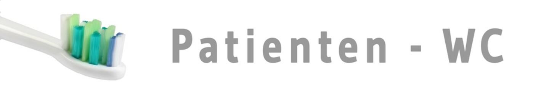 zaps51 - ZahnArztPraxisSchild 51 - Patienten - WC - 6zu1 - g1151